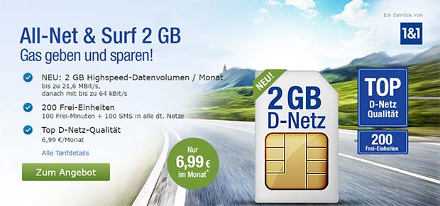gmx.de All-Net & Surf 2 GB