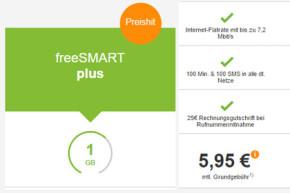 Aktionspreise bei freenet-Tarifen fürs Smartphone: ab 5,95 Euro!