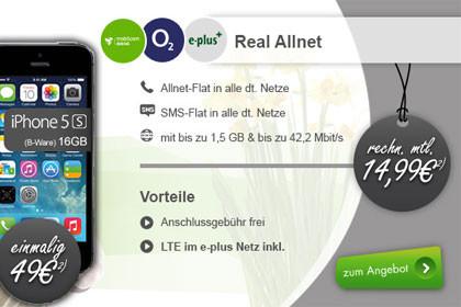 Modeo - Real Allnet-Flats mit Smartphone