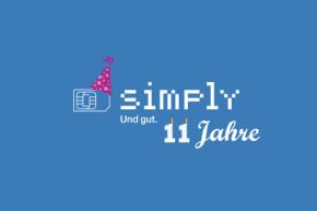 11 Jahre simply: Große Rabatt-Aktion zum Geburtstag des Providers