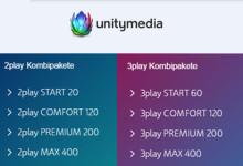 Unitymedia 2play und 3play