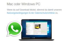Whatsapp auf PC und Mac