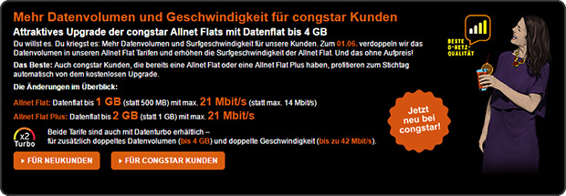 congstar - Allnet Flats x2