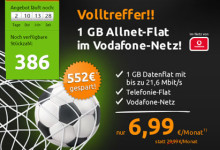 Crash-Tarife - Allnet-Flat im Vodafone-Netz