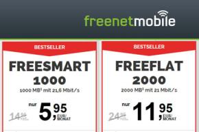 Freenetmobile mit neuem Tarif-Portfolio: Allnet-Flats und Smartphone-Preiswunder