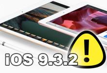 iPad Pro - iOS 9.3.2 warning