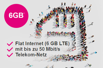 modeo-mobilcom + telekom - Internet-Flat 6000 Aktion