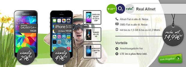 modeo - Real Allnet Flats mit Smartphone