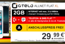 otelo - Allnet-Flat 2 GB mit Apple iPhone