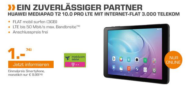 HUAWEI Mediapad T2 10.0 Pro LTE mit Internet-Flat 3.000