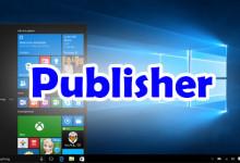Windows 10 Publisher
