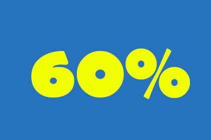 60 Prozent