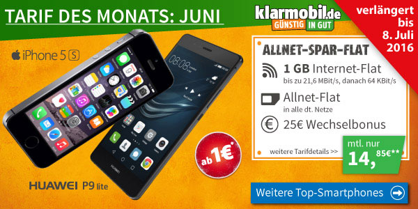 LogiTel - klarmobil Allnet-Flat mit Smartphone