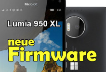 Microsoft Lumia 950 XL - neue Firmware