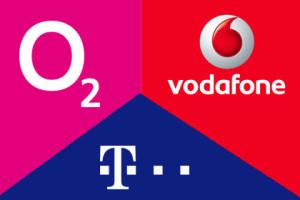 o2, Telekom, Vodafone
