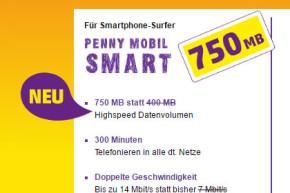 Tarif Mobil Smart von Penny Mobil und ja! Mobil mit mehr Highspeed und Volumen