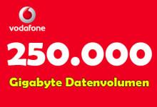 Vodafone 250.000 Datenvolumen
