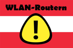 WLAN-Routern - Warning