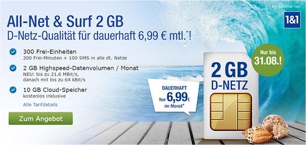 1&1 Allnet Surf 2 GB
