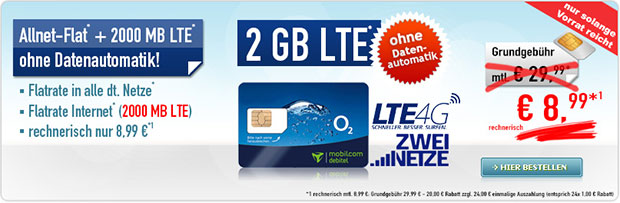 handybude - Allnet-Flat 2 GB LTE