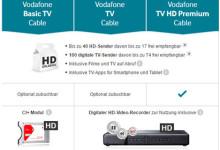 Neue Vodafone TV Tarife