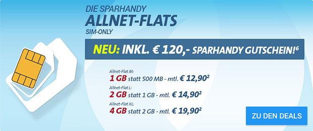Sparhandy  SIM-Only Allnet-Flats
