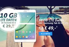 Telekom Internet-Flat 10.000 mit Galaxy Tab S2