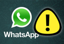 WhatsApp - Warning