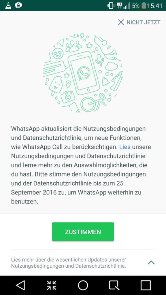 WhatsApp aktualisiert die Nutzungsbedingungen