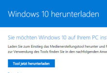 Windows 10 herunterladen