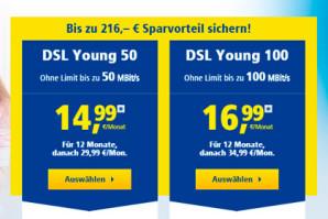 1&1 DSL Young: Internet für Junge Leute zu Sonderkonditionen