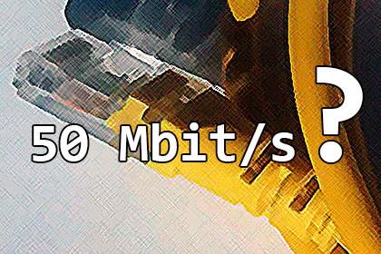 50 Mbit/s