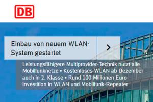 DB neuem WLAN System