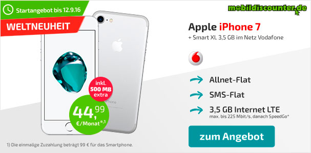IPHONE 7 VODAFONE ANGEBOT