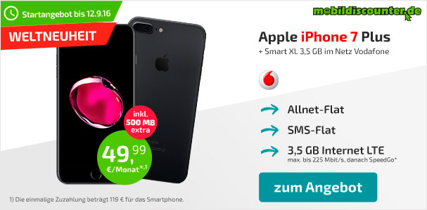 mobildiscounter - Apple iPhone 7 Angebot