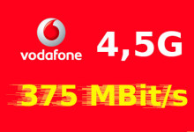 Vodafone 4,5G - 375 Mbit/s