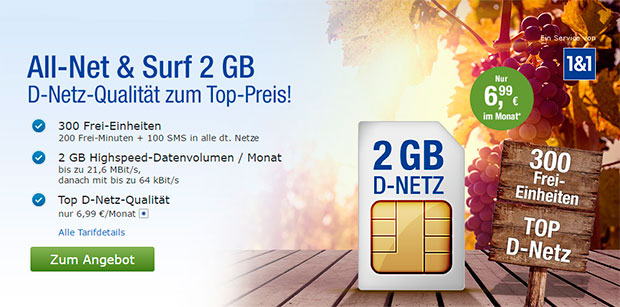 GMX All-Net Surf 2GB