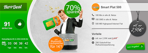 modeo - klarmobil Smart Flat 500