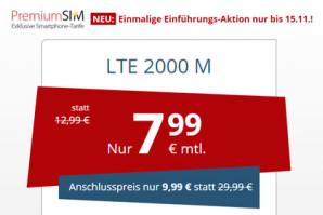 PremiumSIM Aktion bis 15.11.: LTE Allnet-Flats ab nur 7,99 Euro im Monat