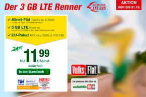 BILD und smartmobil: Volks-Flat mit 3 GB für 11,99 Euro bis Ende Oktober erhältlich