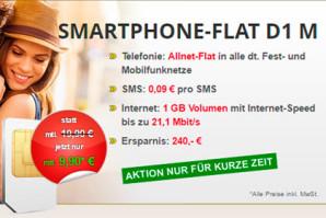 Telefonie-Flat mit 1 GB Highspeed im Telekom-Netz für monatlich nur 9,90 Euro