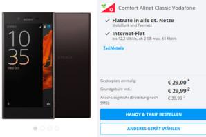 Allnet-Flat mit 2 GB Highspeed-Volumen und Smartphone nach Wahl