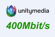 Unitymedia 400 Mbit/s