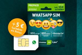 Wieder da: WhatsApp SIM mit WhatsApp-Flat zum Texten ohne Guthaben