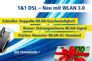 1&1 auf Kundenfang: Bis zu 100 Euro Wechselbonus + Preisvorteil für neue DSL-Kunden