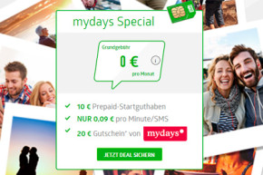 Deal: Fyve Prepaid Tarif mit mydays Gutschein