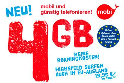 mobi-gsm 4 GB im Ausland