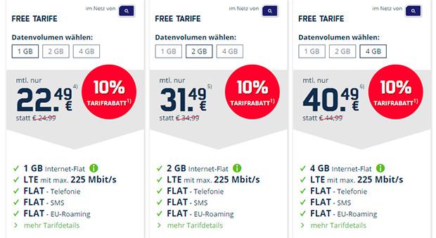 mobilcom-debitel o2 Free Tarifrabatt