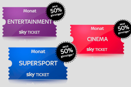 SKY Ticket 50% Bonus