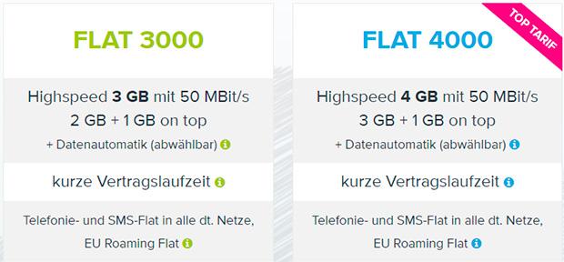 Tarifhaus Flat 3000, Flat 4000
